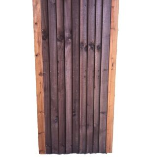 Closeboard Gate Brown 1.8m