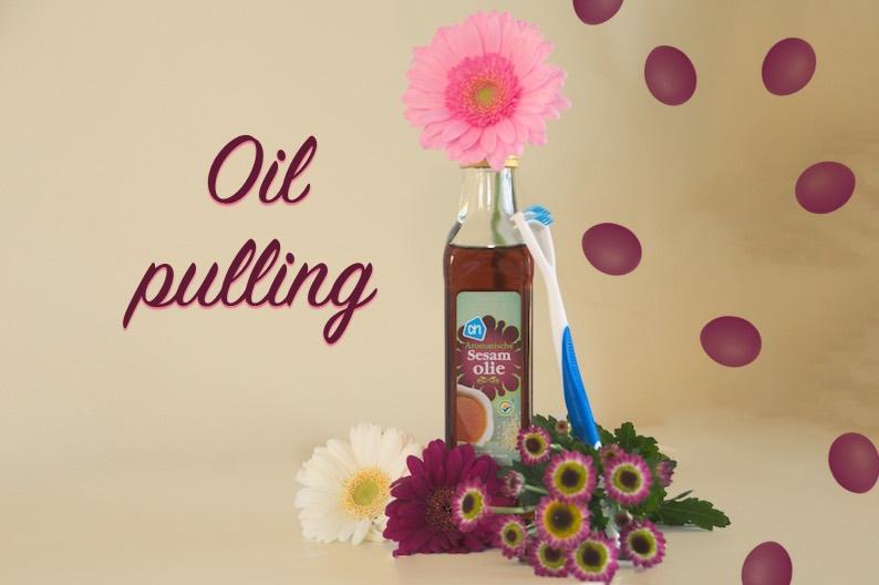 Oilpulling sesamolie tongschraper