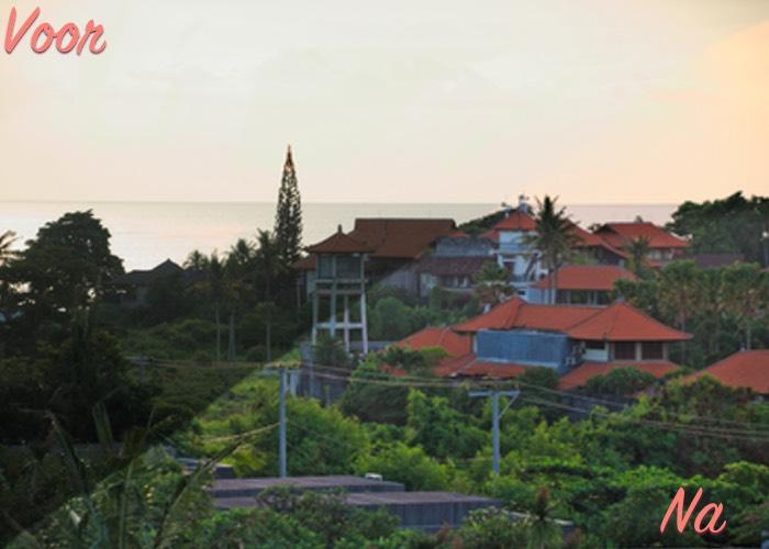 Weekoverzicht #9 Foto's Bali bewerken RAW voor na