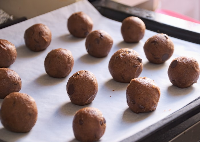 Balletjes koekjes voor de oven