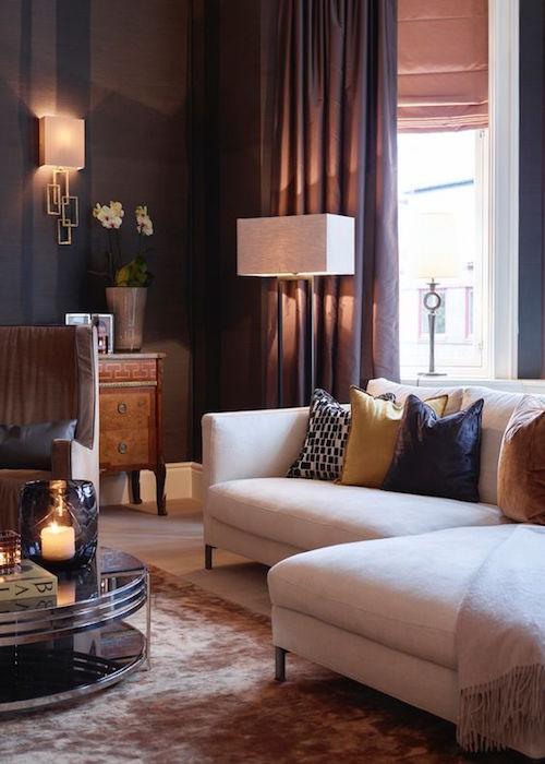 Warme kleuren bij weinig licht in huis