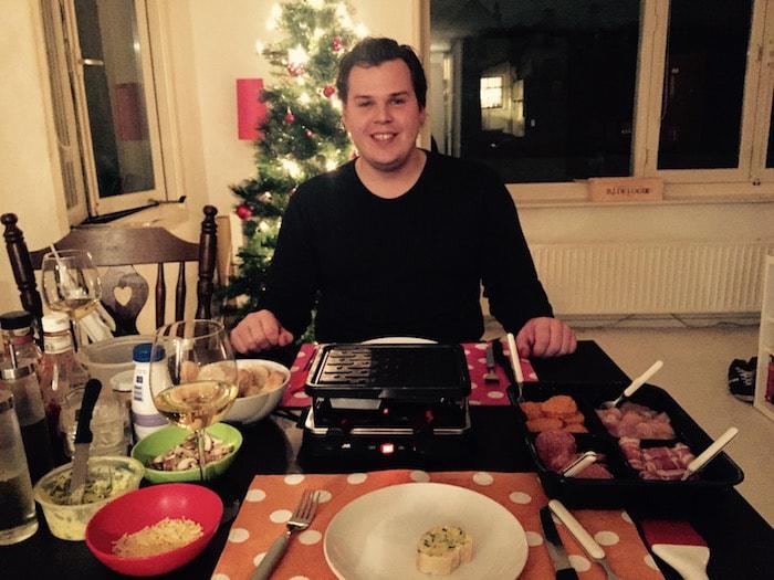 Jan aan de gourmettafel