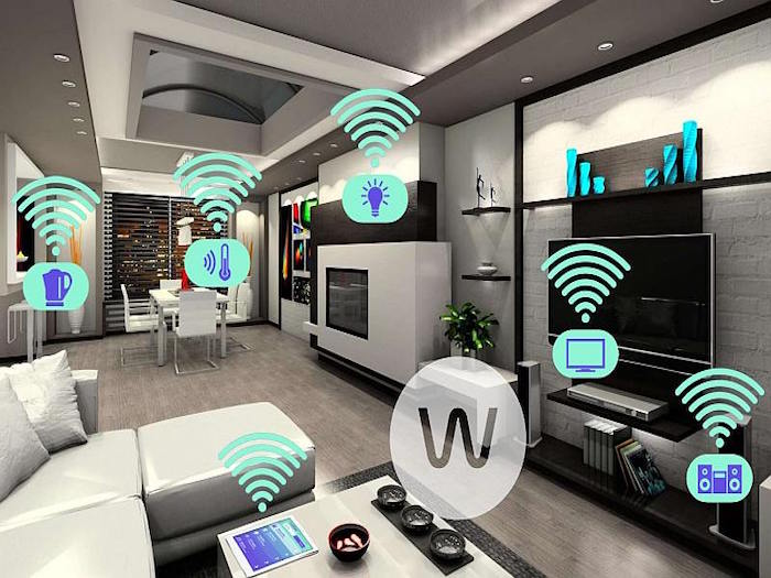 Gadgets in huis: home automation system