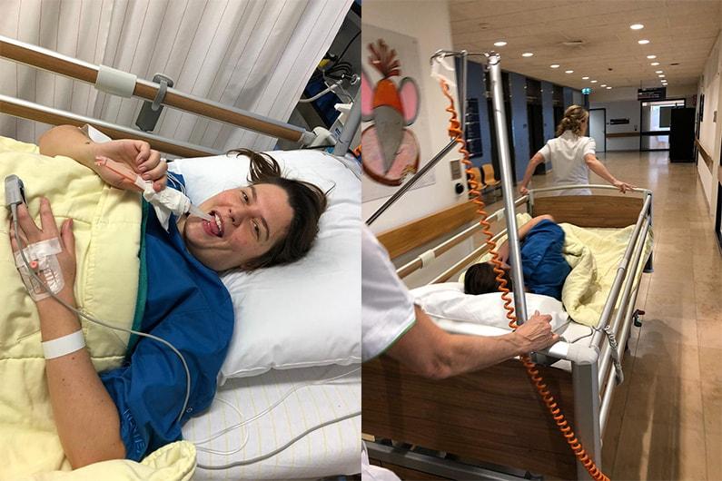 Januari 2019 - in het ziekenhuis