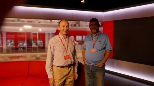 Colin and George in the Look East Broadcast Studio.