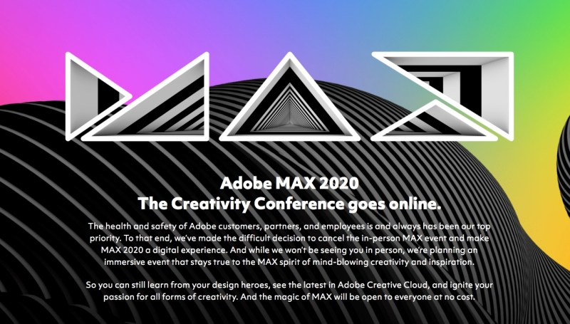 Adobe MAX 2020 Goes Online for Free this year!