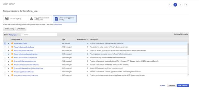 Deploy EKS with Terraform and KOPS terraform user access
