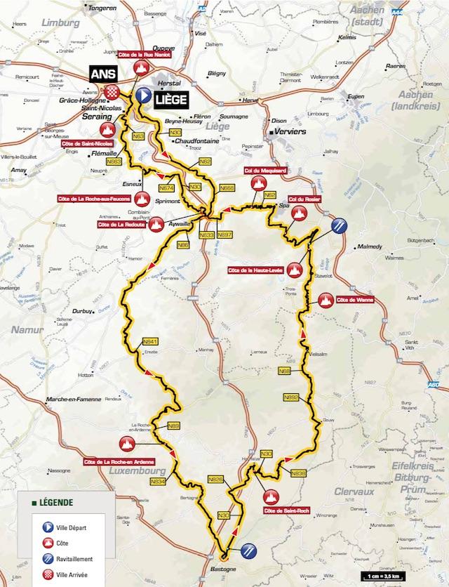 Liege_Bastogne_Liege_2016_map