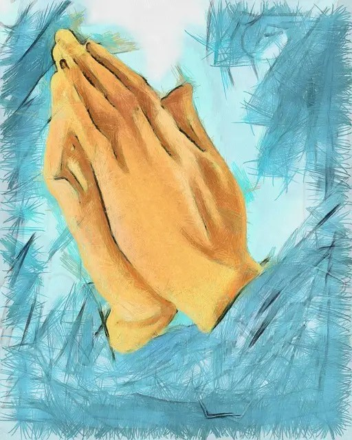 """Praying hands"" photo"