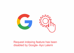 Request indexing feature has been disabled by Google