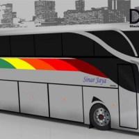 Desain bus korrd Sinar Jaya