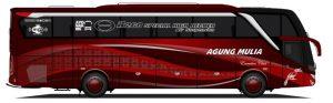 Livery bus Agung Mulia