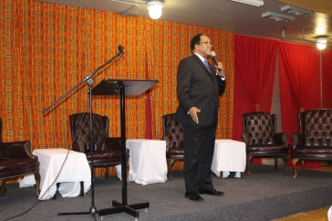 Dr. Ben Chavis reflects on his memories of Dr. Martin Luther King, Jr. during his opening address.