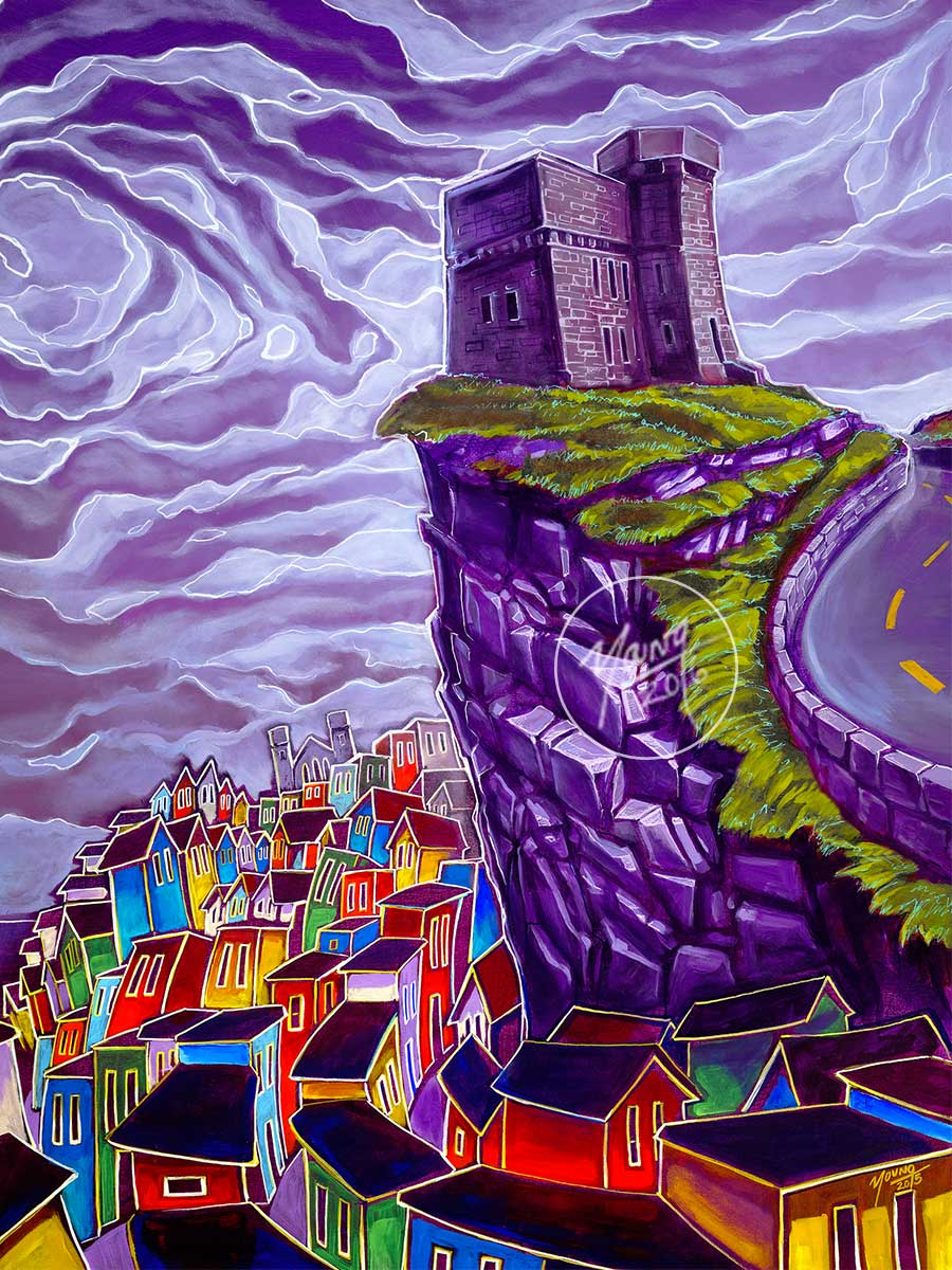 Signal Hill Painting By Newfoundland Artist Adam Young