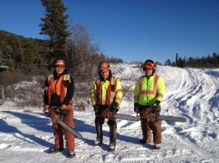 Yukon College was able to offer a chain-saw course at Haeckel Hill. The instructor is also a paragliding pilot.