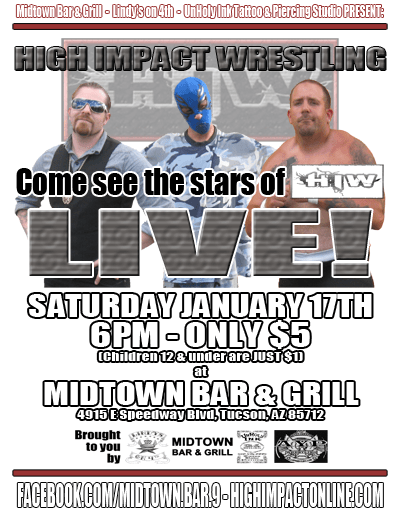 HIW TV Tapings - 01/17/2015 - Tucson, AZ