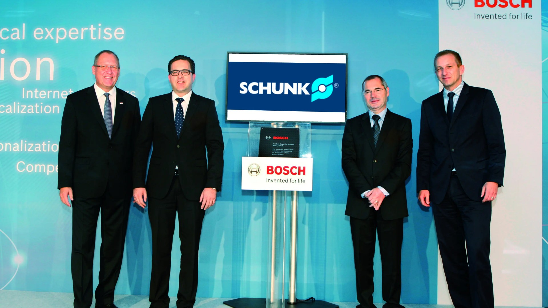 "BOSCH distingue a SCHUNK con el ""Global Supplier Award"""