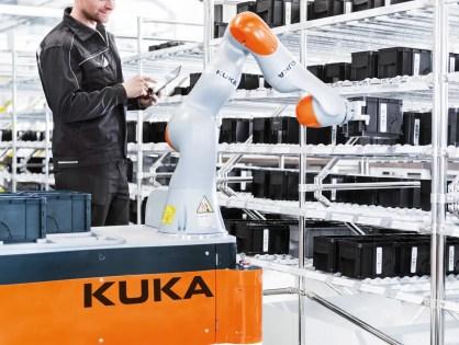 Ahora el robot colaborativo KUKA también se desplaza