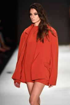 ISTANBUL, TURKEY - OCTOBER 14: A model walks the runway at the Ayse Deniz Yegin show during Mercedes-Benz Fashion Week Istanbul at Zorlu Center on October 14, 2016 in Istanbul, Turkey. (Photo by Ian Gavan/Getty Images for IMG)