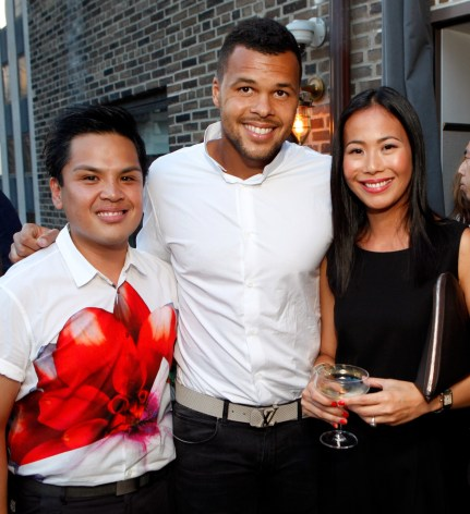 Jo-Wilfried Tsonga and guests