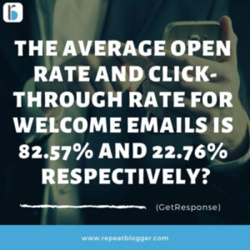 Open and Click Through Rates For Welcome Emails Stats Image