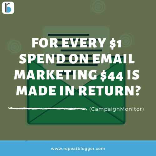 invest in email marketing roi stats image