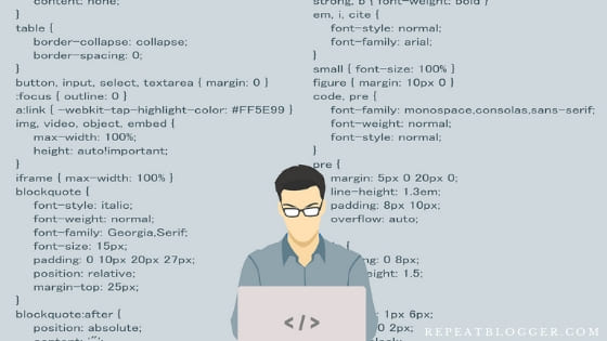 Programmer with code background image