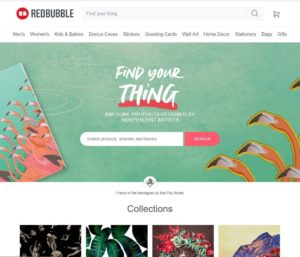 redbubble homepage