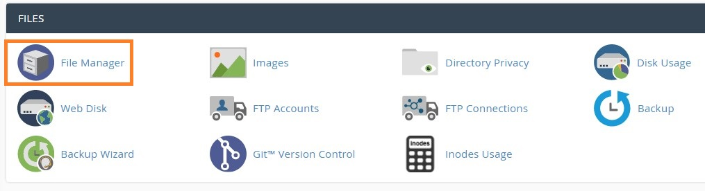 Moving You WordPress Site To A New domain File Manager