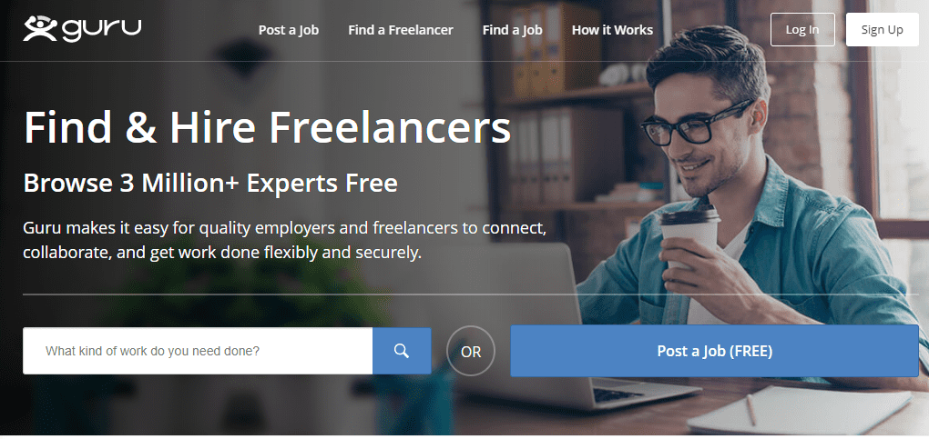 Guru - Hire Quality Freelancers Online and Find Freelance Jobs