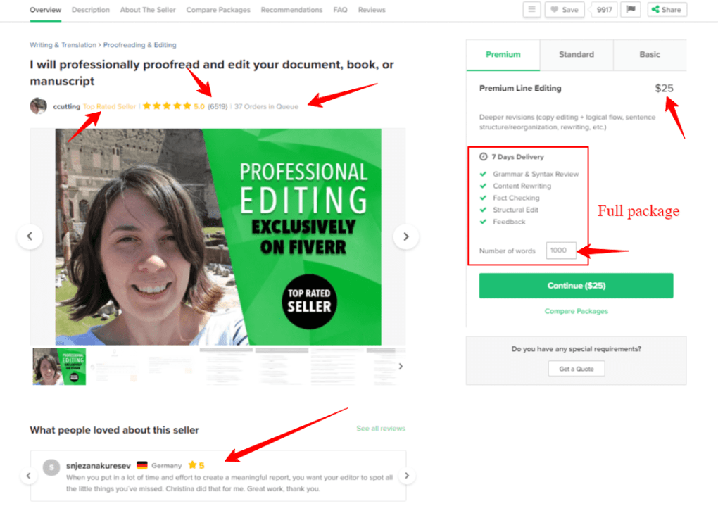 Proofreading jobs top rated seller on Fiverr