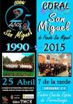 cartel 25 aniversario de la coral san miguel1