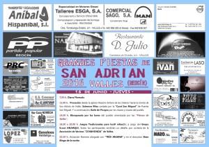 cartel 1 fiestas de san adrian 2016