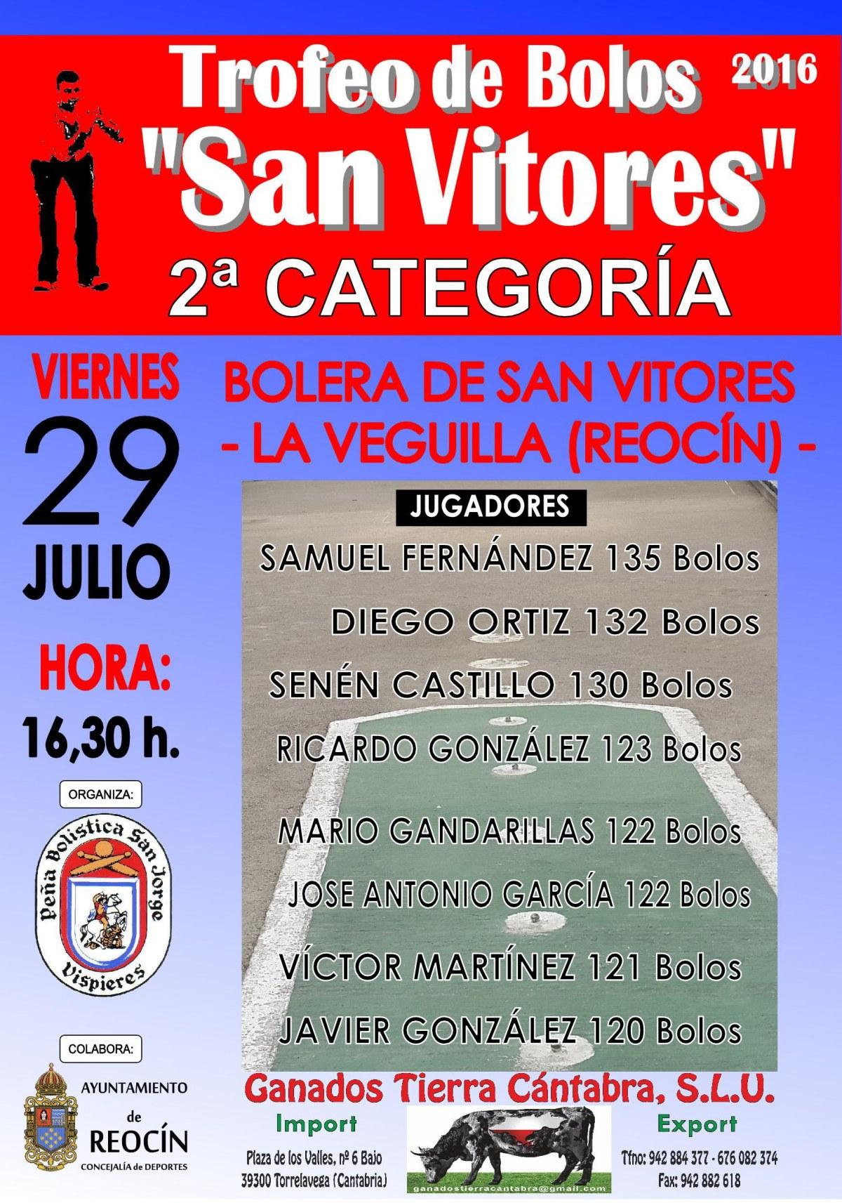 CARTEL BOLOS TROFEO SAN VITORES 2016