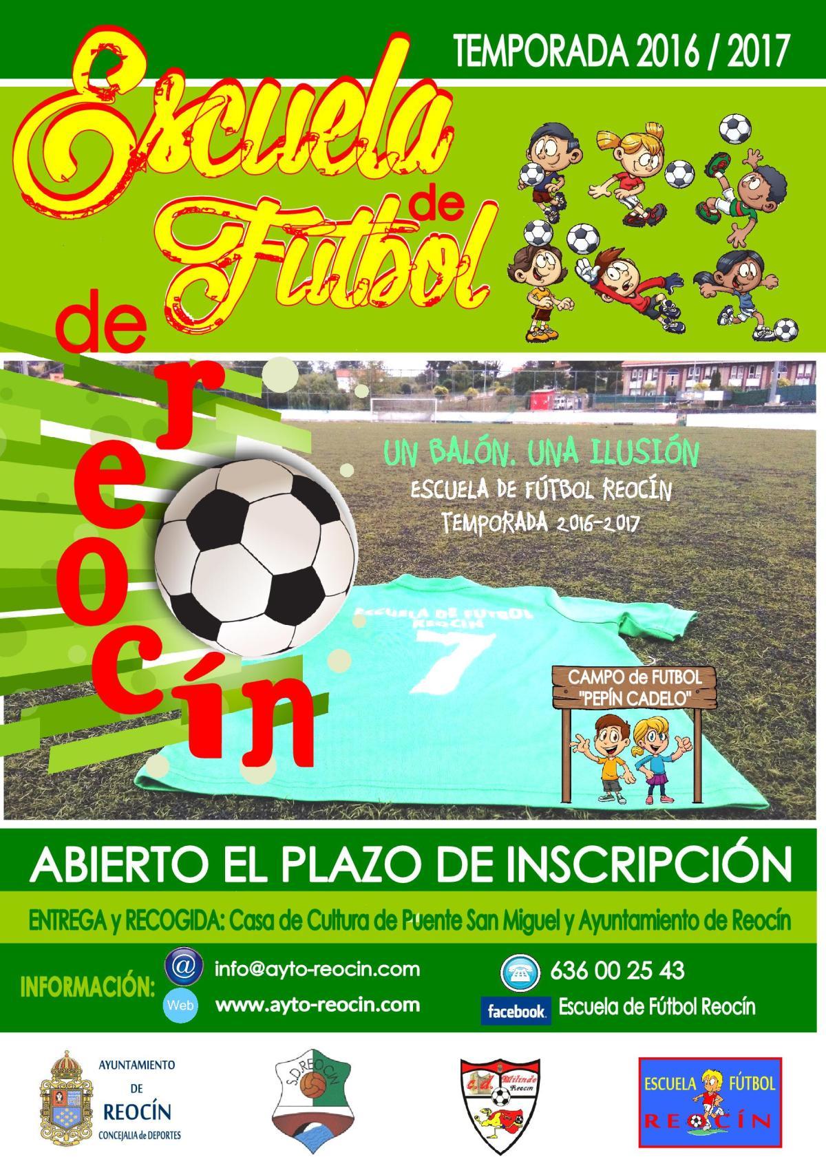 cartel de escuela de futbol 2016