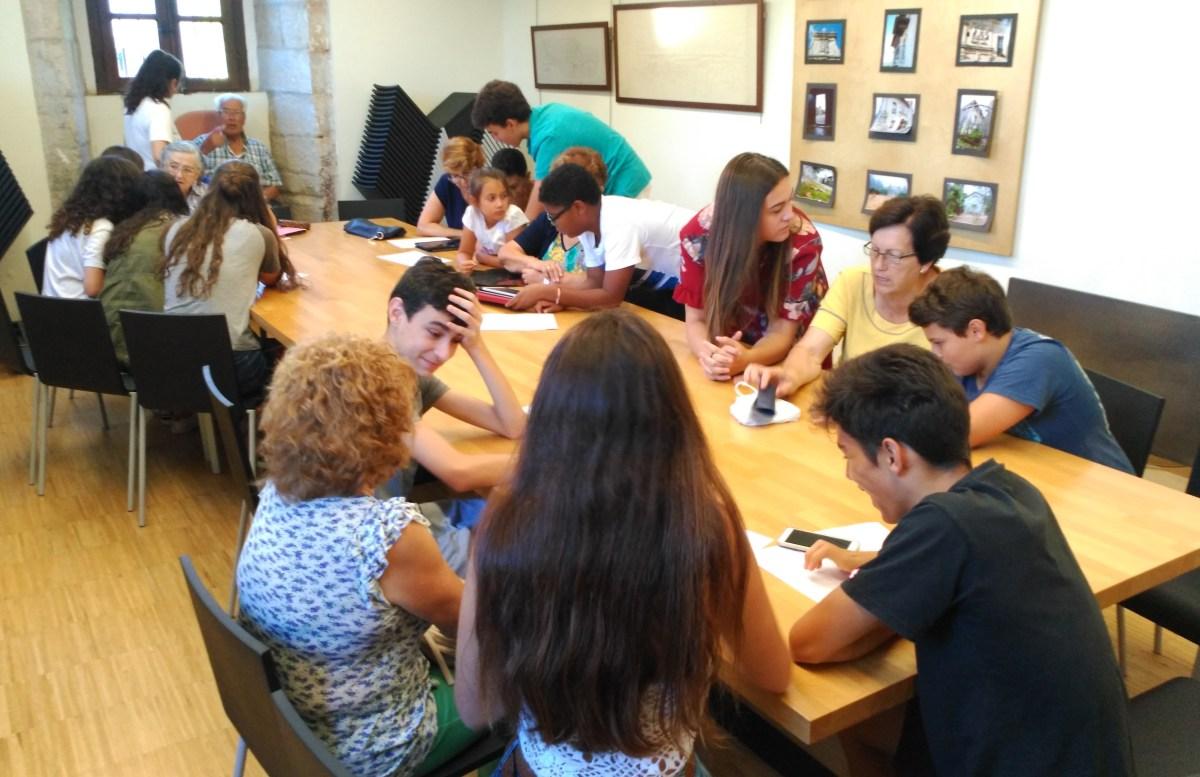 Foto sesión En red con mayores
