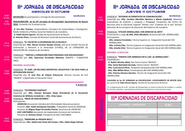 PROGRAMA IIIªJORNADAS DISCAPACIDAD
