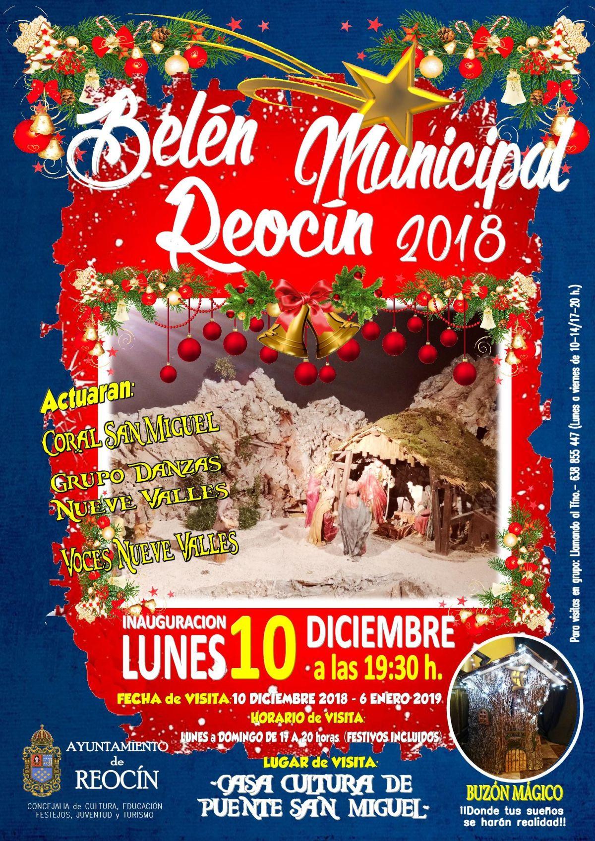cartelñ belen municipal de reocin2018
