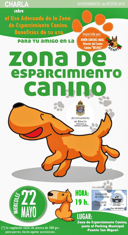 NUEVO CARTEL ZONA DE ESPARCIMIENTO CANINO 22 DE MAYO 2019