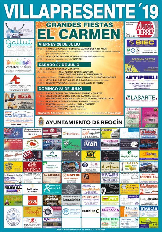 FIESTAS DEL CARMEN VILLAPRESENTE 2019