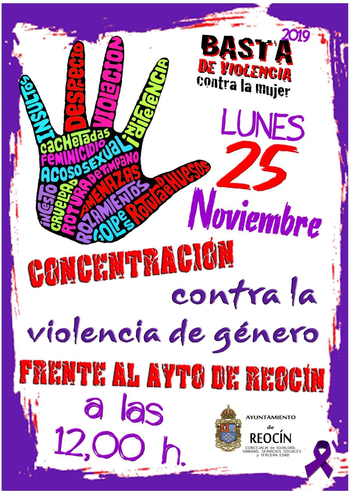 cartel concentración contra la violencia contra la mujer 25nov19