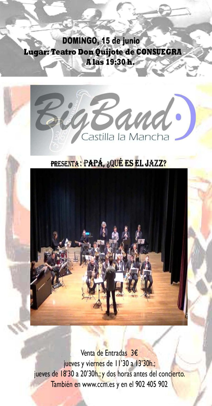Cartel Big Band CLM 15junio2014