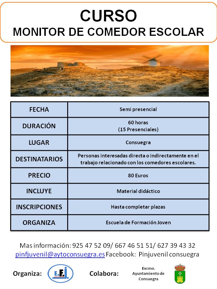 Curso de Formación Monitor de Comedor Escolar - Ayuntamiento de ...