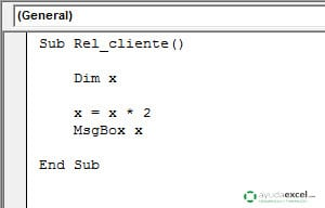 ambito de una variable local excel vba