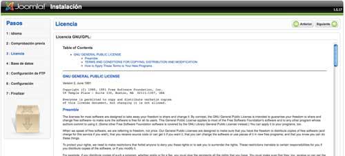 Licencia de Joomla
