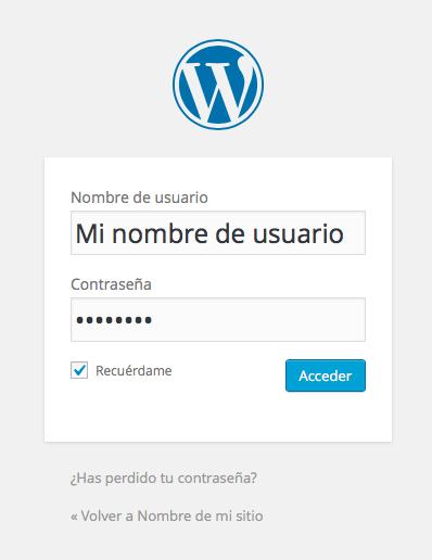 acceder a WordPress