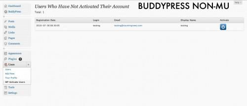activar usuarios buddypress