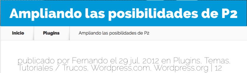 entrada wordpress fecha real publicacion