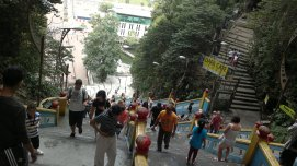 from the top of Batu Caves, Malaysia. when i descended the stair, i got tremor. very scary ._.