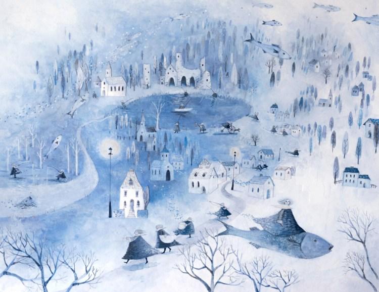 blue landscape by ayukotanaka